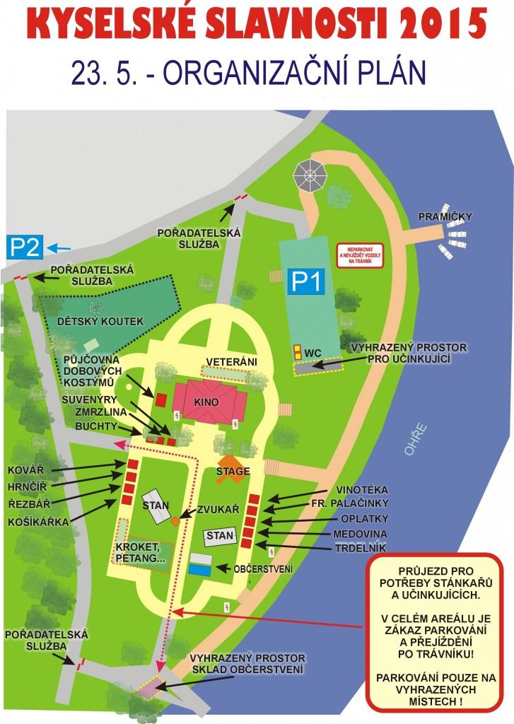 Kyselské slavnosti_organizační plán v parku